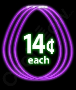22 Inch Glow Necklaces - Purple