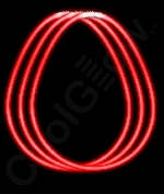 Fun Central J1 22 Inch Glow in the Dark Necklaces - Red