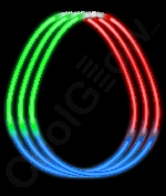 Fun Central J5 22 Inch Glow in the Dark Necklaces Red-Green-Blue