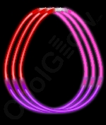 Fun Central B63 22 inch Glow in the Dark Necklaces Red-Purple-Pink