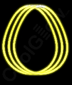 Fun Central J3 22 Inch Glow in the Dark Necklaces - Yellow