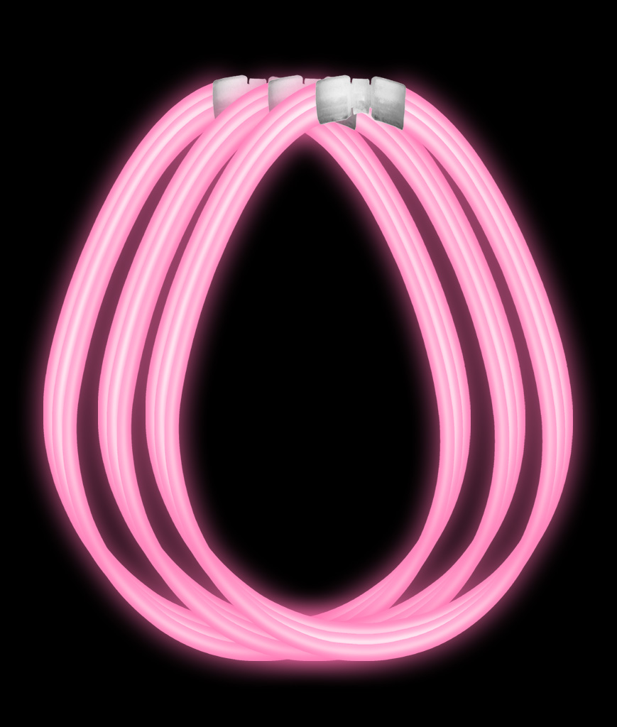 22 Inch Super Wide Glow Necklaces-Pink