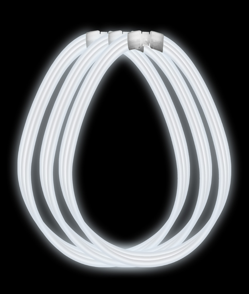 22 Inch Super Wide Glow Necklaces- White