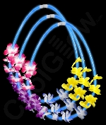 Fun Central B586 22 Inch Flower Lei Glow in the Dark Necklaces - Blue