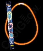 Fun Central AJ124 22 Inch Retail Packaged Glow in the Dark Necklaces - Orange