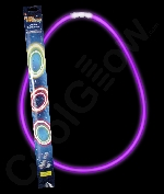 Fun Central AJ125 22 Inch Retail Packaged Glow in the Dark Necklaces - Purple