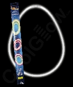 22 Inch Retail Packaged Glow Necklaces - White