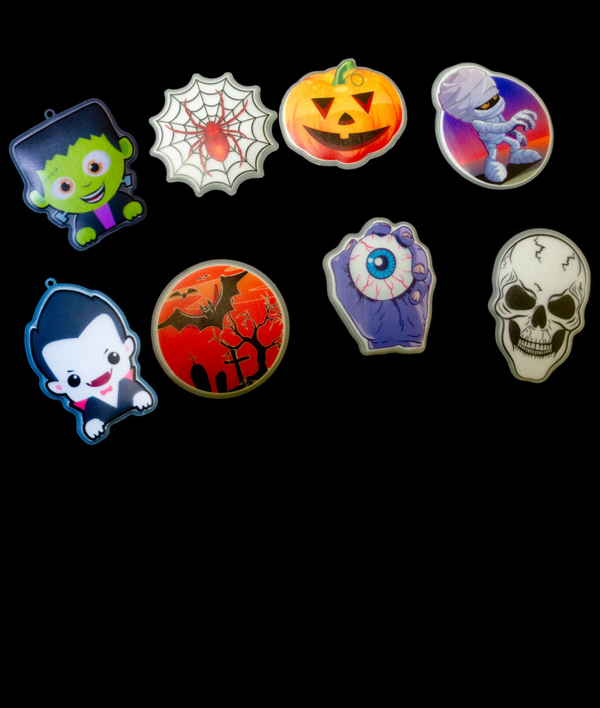 Fun Central AU488 Glow in the Dark Sticker Halloween -  Assortment