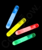 Fun Central V78 1.5 Inch Glow in the Dark Sticks - Assorted Colors