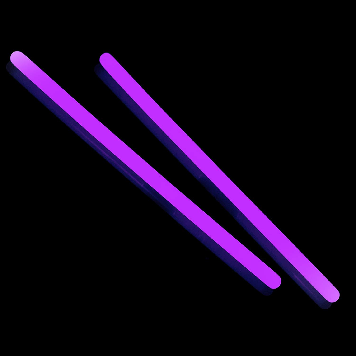 Fun Central F0 10 Inch Glow in the Dark Sticks - Purple