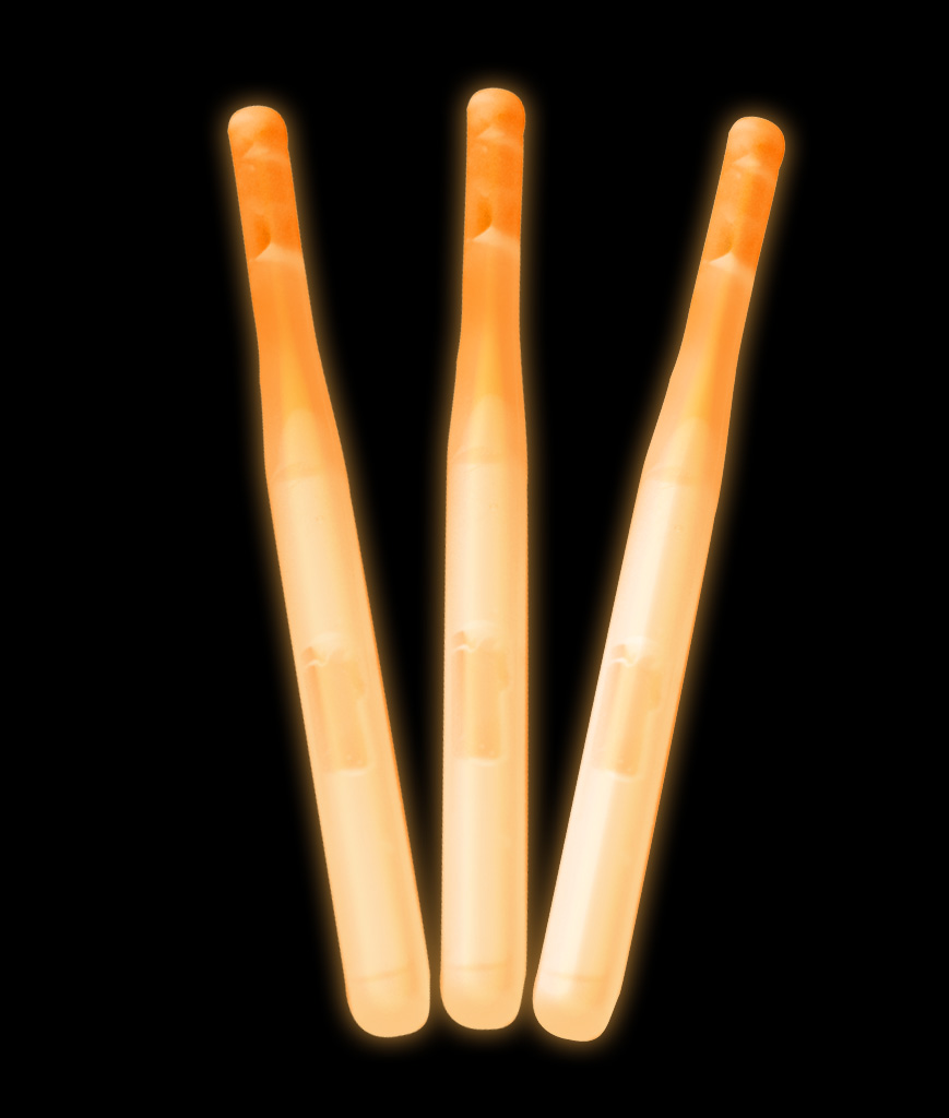 3 Inch Lollipop Glow Sticks - Orange