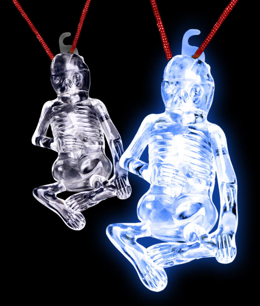 Glow Stick Halloween Skeleton - Blue