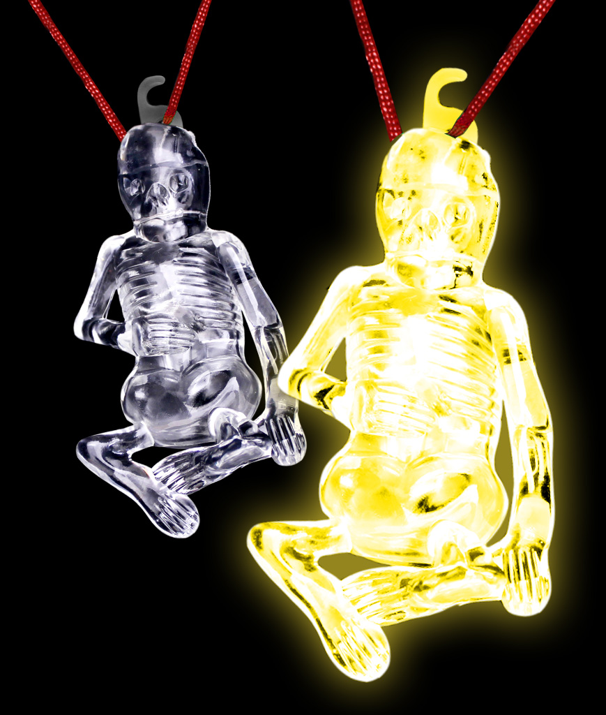 Glow Stick Halloween Skeleton - Yellow