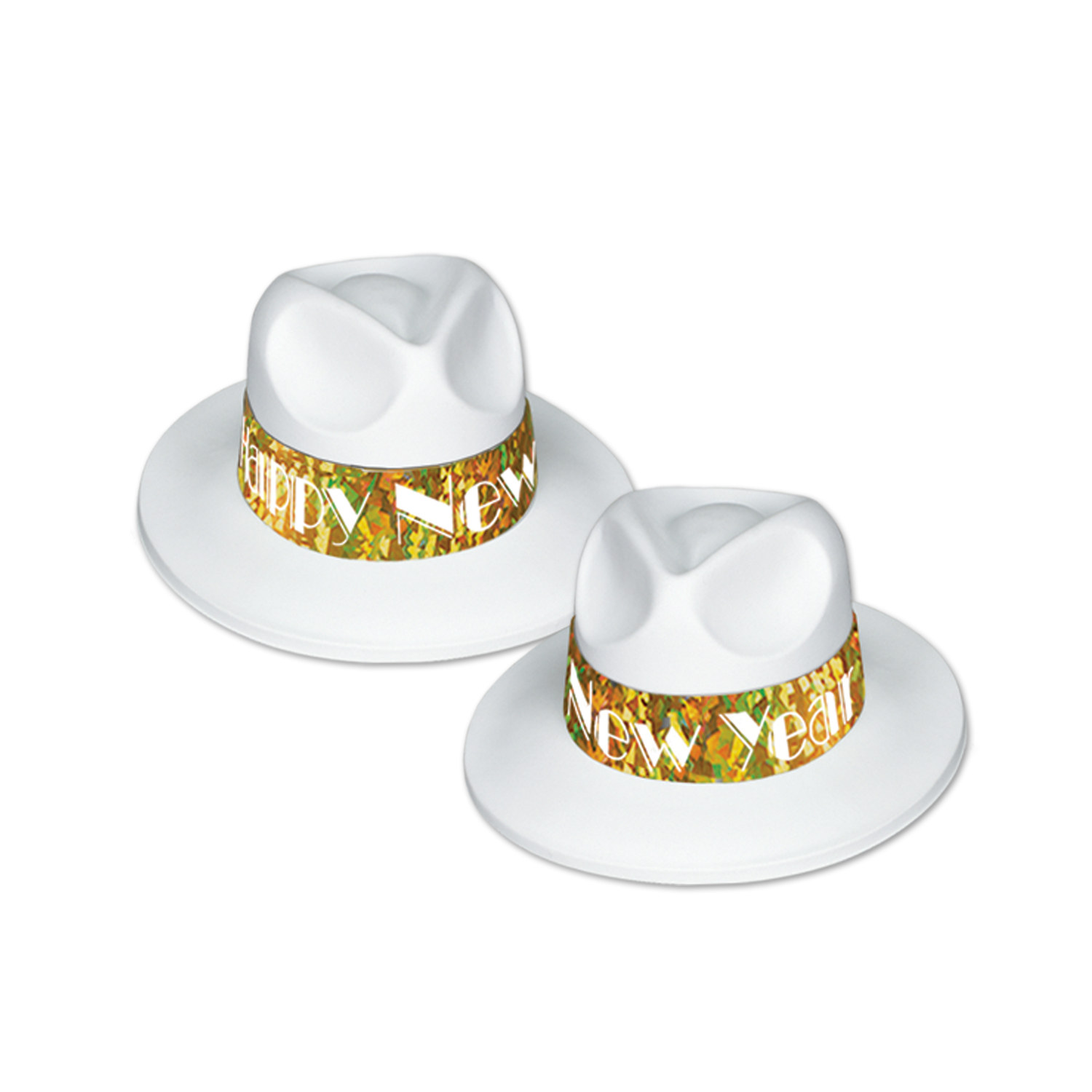 LA Swing Gold Fedora white & gold