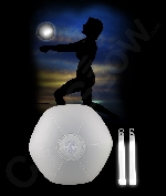 Fun Central AK052 Glow in the Dark Beach Ball- White