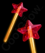 Glow Star Wand - Orange