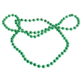 Metallic Bead Necklaces Green