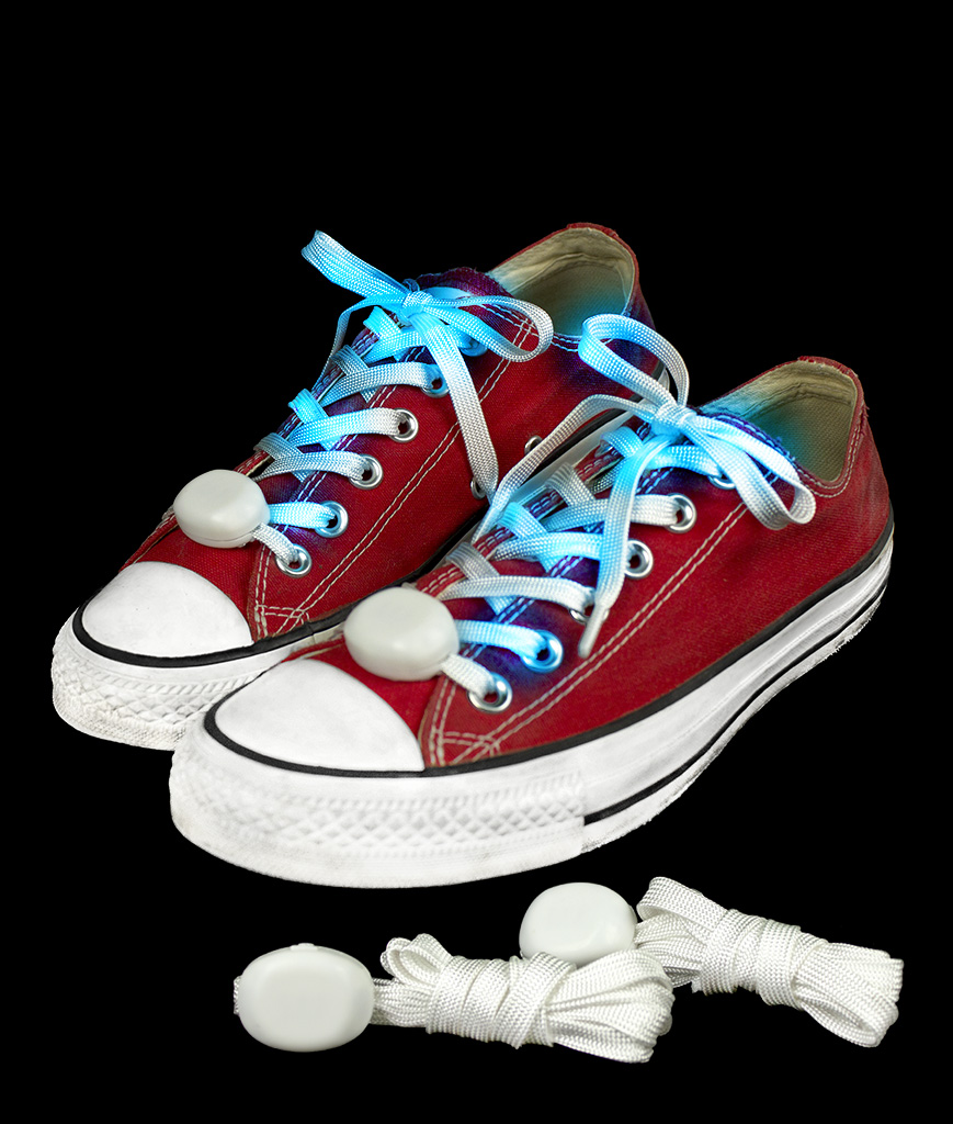 LED Cloth Shoe Laces- Blue