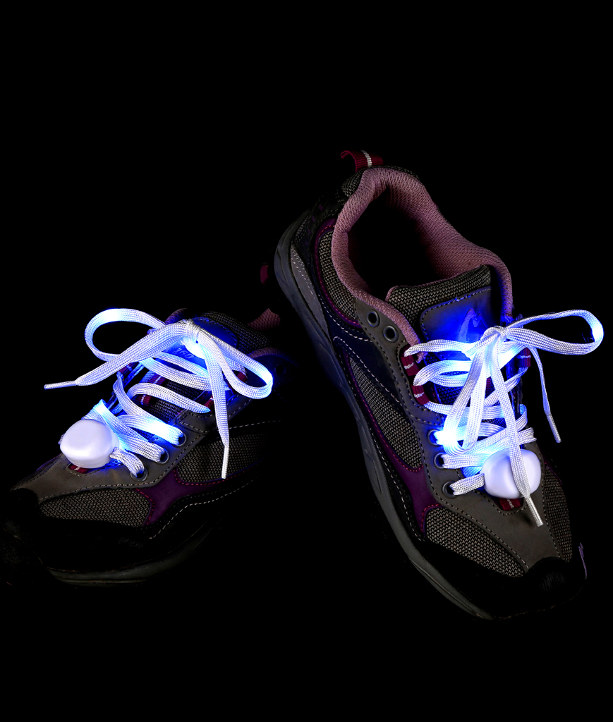 Fun Central AT931 LED Light Up Cloth Shoe Laces- Blue