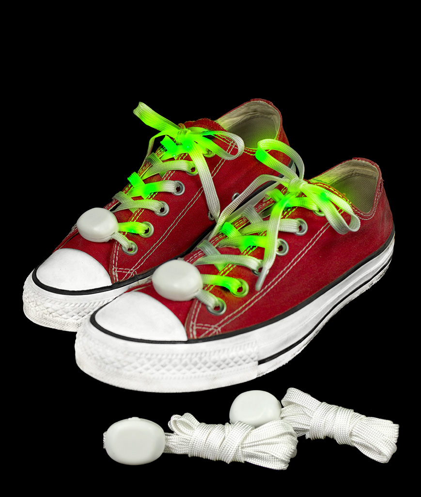 LED Cloth Shoe Laces- Green