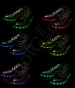 Fun Central AU533 LED Light Up Black Shoes - M10