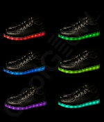Fun Central AU535 LED Light Up Black Shoes - M12