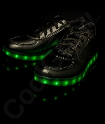 Fun Central AU524 LED Light Up Black Shoes - M5W7