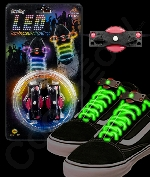 Fun Central O539 LED Light Up Shoe Laces - Green