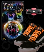 Fun Central O538 LED Light Up Shoe Laces - Orange
