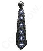 Fun Central AI675 LED Light Up Sequin Tie - Black