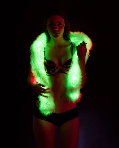 Light Up Fur Boa