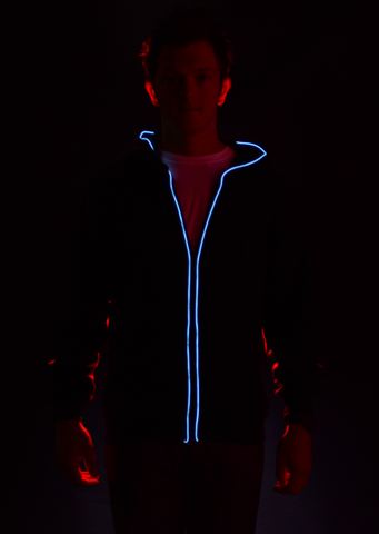Light Up Hoodie- Blue  XX Large