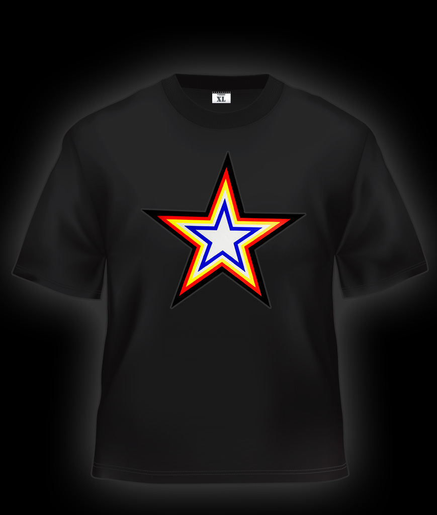 LED Sound Activated T-Shirt - Star