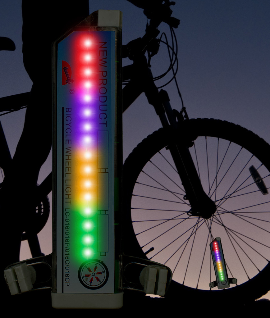 LED Bicycle Kaleidoscope Light