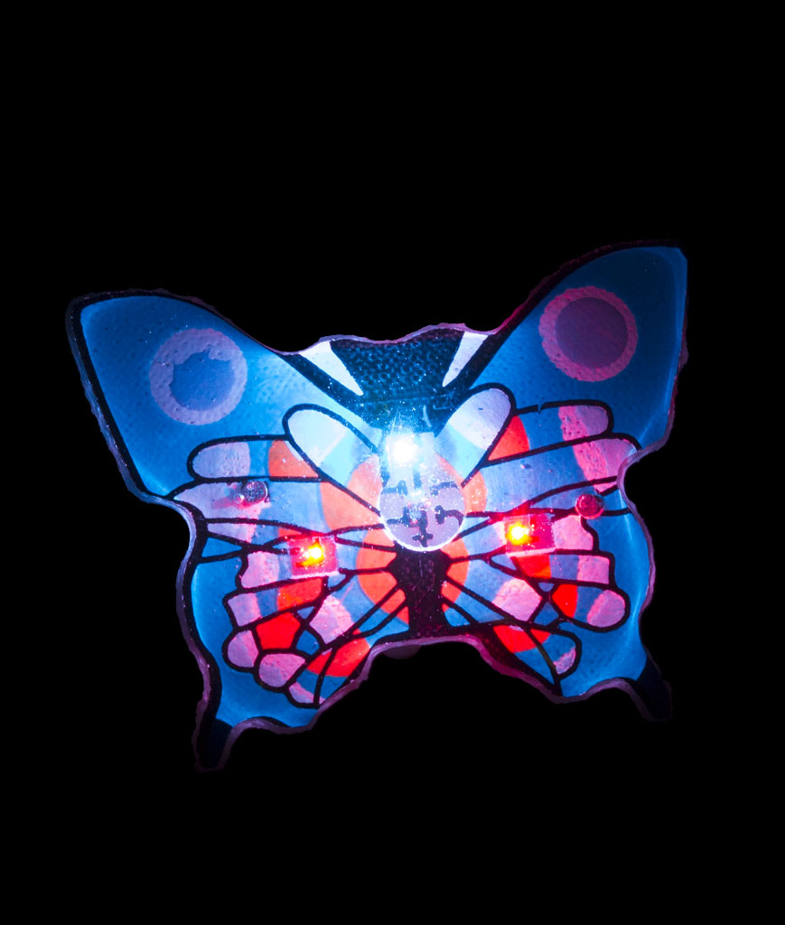 Fun Central A65 Flashing Butterfly Blinky - Blue