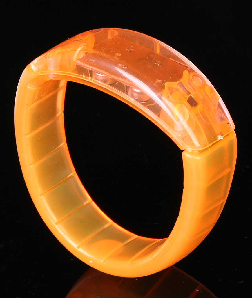 Fun Central AI346 LED Light Up Bangle Bracelets - Orange