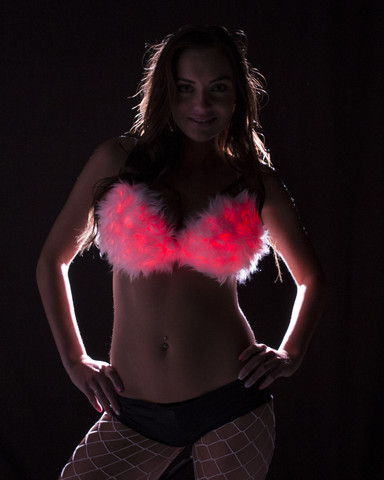 Light Up Bra- Fur 34B