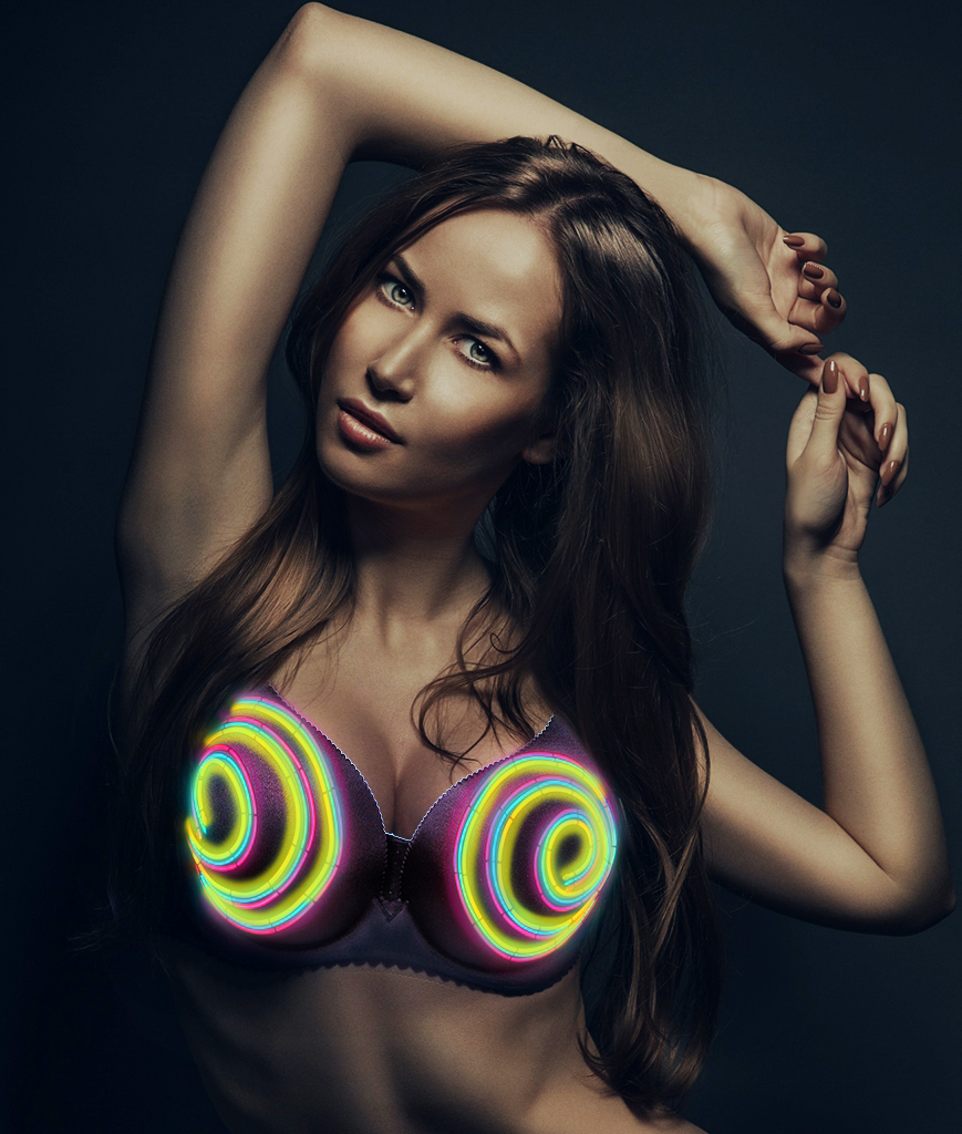 Light Up Bra - Hypnotized 34A