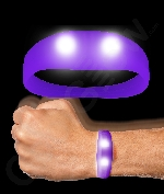 LED Motion Activated Wristband - Purple