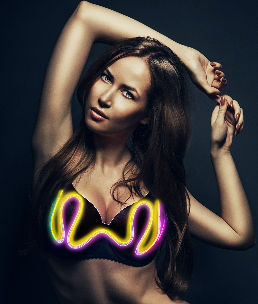 Light Up Bra - Scribble 38B