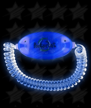 LED Stretchy Bracelet - Blue