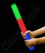 Fun Central I589 LED Light Up Foam Stick Baton Premium - Multicolor