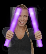 Fun Central AJ699 LED Light Up Foam Stick Baton Supreme - Purple
