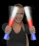 Fun Central T479 LED Light Up Foam Stick Baton Supreme - Red-White-Blue
