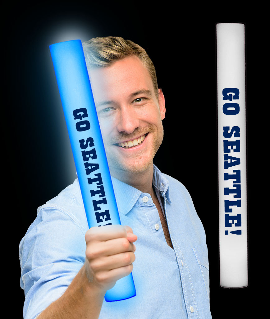 LED Go Seattle Foam Stick Baton - Blue 12ct