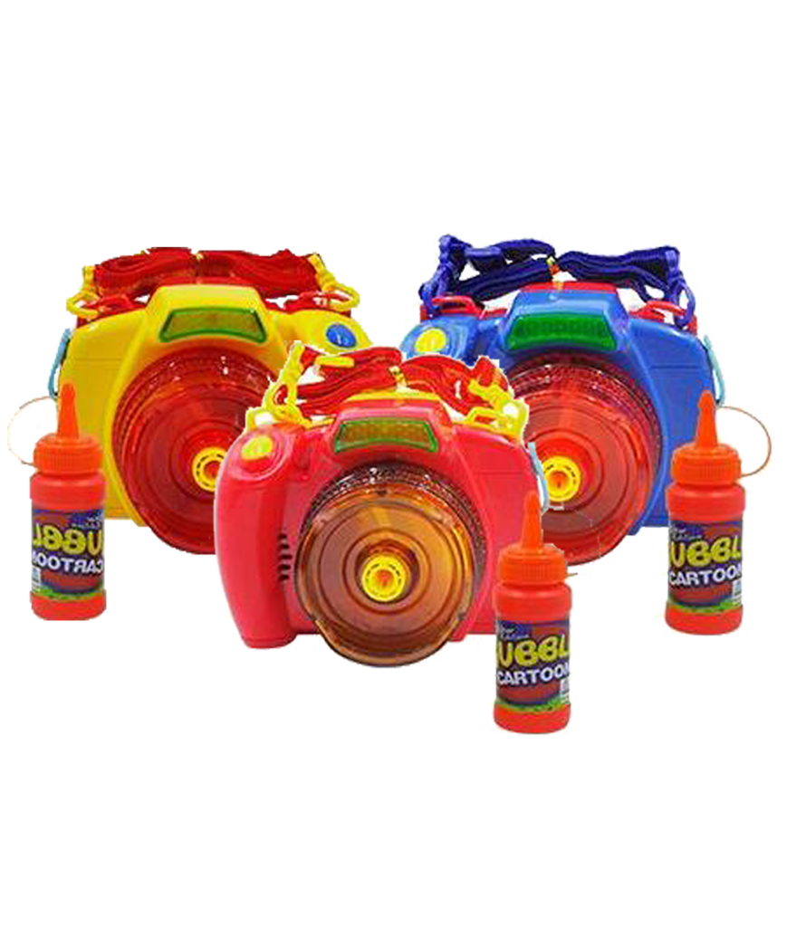 LED 5 Inch Bubble Gun - Camera - Assorted