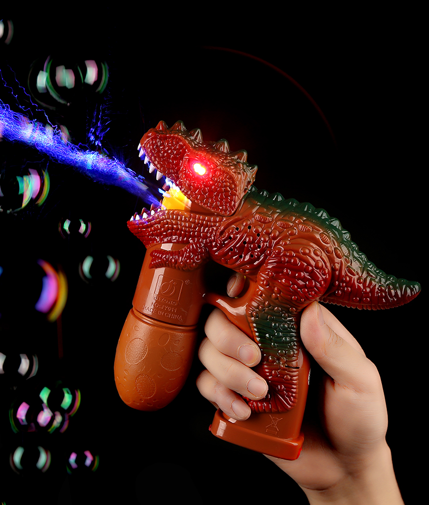 Fun Central AU022 LED Light Up Bubble Gun - Dinosaur - Brown