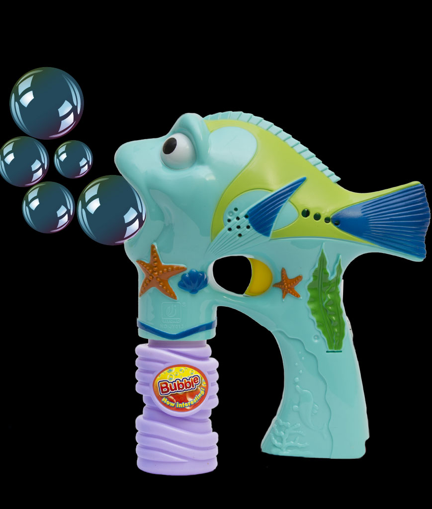 LED 6 Inch Bubble Gun - Fish