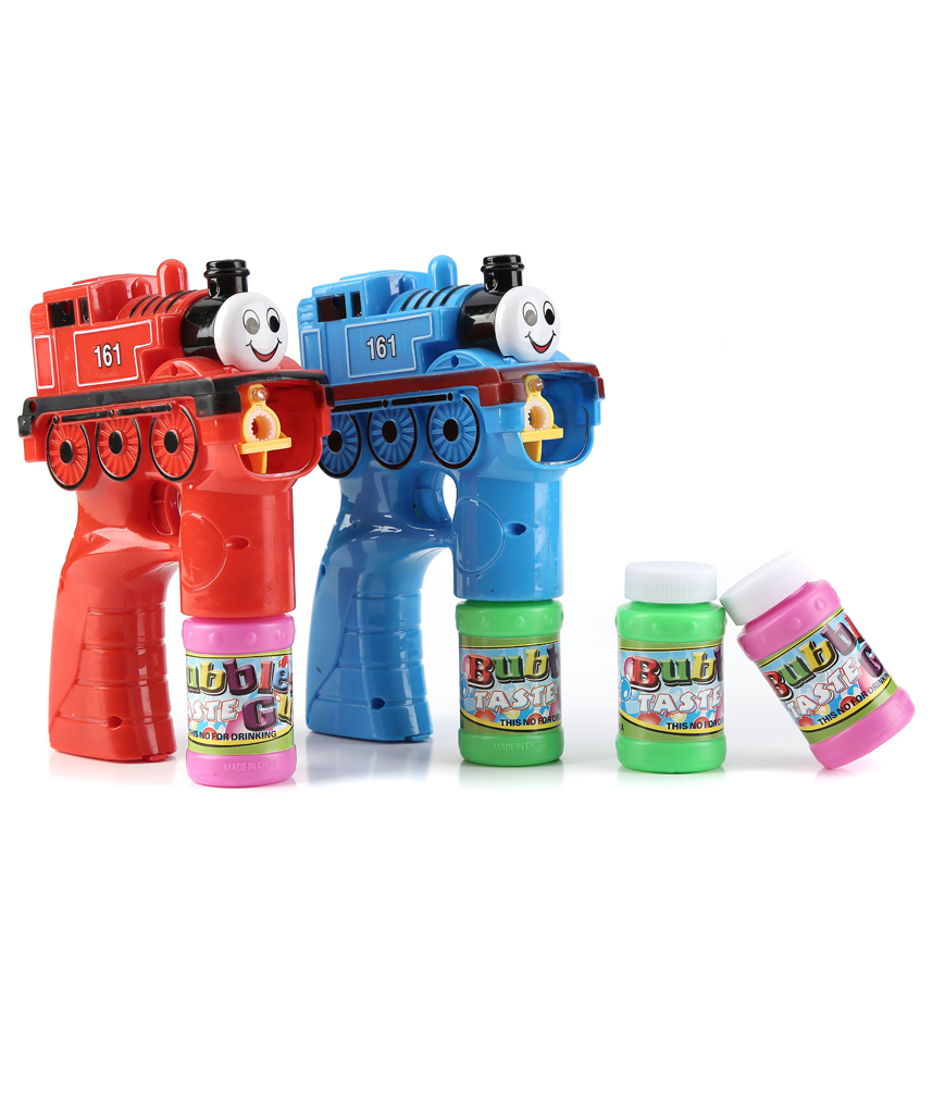 LED 5 Inch Bubble Gun - Train - Assorted
