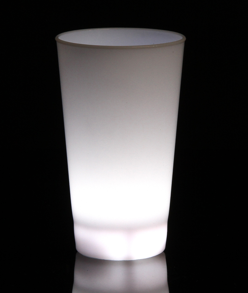 Fun Central AH952 Glow in the Dark LED Light Up Cup - 16oz White
